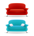 Interior design with realistic sofa vector image