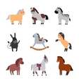 Different horses breed set vector image