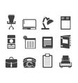office and firm icons vector image vector image