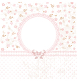 Baby pink flower background vector image