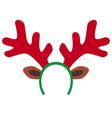 reindeer mask vector image