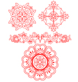 floral scroll element vector image vector image