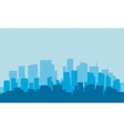 Silhouette of building with blue background vector image