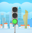 Cityscape with the traffic light City trafic vector image