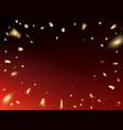 Golden confetti design vector image
