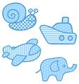 Applique prints for baby boys set vector image
