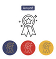 award icon medal achievement concepts vector image