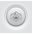 Email Security Icon Grey Button Design vector image