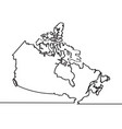 map of canada continous line vector image