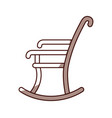rocking chair isolated icon vector image
