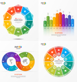 set of infographic templates with 10 options vector image