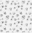 skull seamless pattern or texture vector image