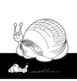 template for card with funny snail vector image