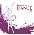 dance day ballet vector image