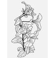decorative viola flower vector image vector image