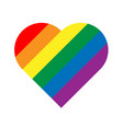 lgbt rainbow pride flag in a shape of heart vector image
