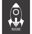 rocket design vector image