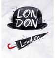 London signs umbrella vector image