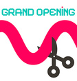 Grand Opening Ribbon with Scissors vector image vector image