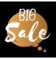 speech bubble of big sale gold isolated vector image