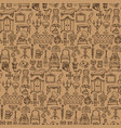 antiques doodle seamless pattern vector image