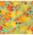 autumn leaves seamless 380 vector image