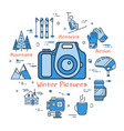 blue winter pictures concept vector image