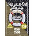 Color vintage nautical poster vector image