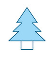 Cute blue tree cartoon vector image