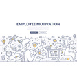 Employee Motivation Doodle Concept vector image