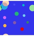 Polka dot color seamless pattern vector image