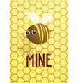 postcard be mine vector image