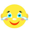 smiley laughs and cries vector image