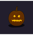 Halloween Terrible Pumpkin on Dark Background vector image