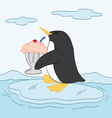 Penguin with a Sundae vector image vector image