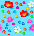 a bright seamless background with flowers and vector image
