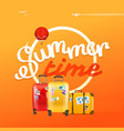 summer time concept with color handbags vector image