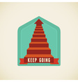 keep going vector image