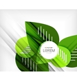 Green stylized geometrical leaves vector image vector image