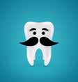 Mustachioed wisdom tooth vector image vector image