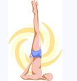 Yoga man vector image