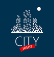 logo night city and moon vector image vector image