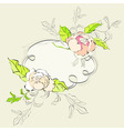 stylish frame with floral ornament vector image vector image