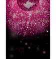 Disco ball pink sparkling background vector image