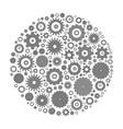Cog wheels arranged in circle vector image