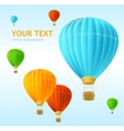 Air ballons background vector image