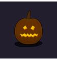 Halloween Terrible Pumpkin on Dark Background vector image