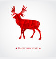 merry christmas color abstract reindeer geometric vector image