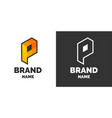 modern logo and sign the letter p vector image