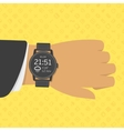 Smart watch on businessman hand vector image